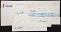 Baseball Collectibles:Others, Baseball Greats Signed Index Cards and Memorabilia Lot of 20....