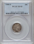 Barber Dimes: , 1900-S 10C XF45 PCGS. PCGS Population (7/181). NGC Census: (2/114).Mintage: 5,168,270. Numismedia Wsl. Price for problem f...