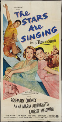 "The Stars are Singing & Other Lot (Paramount, 1953). Three Sheet (41"" X 81"") and One Sheet (27"" X..."