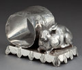 Silver Holloware, American:Napkin Rings, A WEBSTER SILVER-PLATED FIGURAL NAPKIN RING . E.G. Webster &Son, New York, New York, circa 1875. Marks: E G WEBSTER &SON...