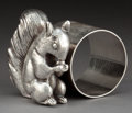 Silver Holloware, American:Napkin Rings, A BARBOUR SILVER-PLATED FIGURAL NAPKIN RING . Barbour Silver Co.,Hartford, Connecticut, circa 1875 . Marks: BARBOUR SILVE...