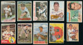 Baseball Cards:Autographs, Baseball Legends Signed Cards Lot of 10....