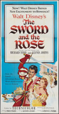 "Movie Posters:Adventure, The Sword and the Rose (RKO, 1953). Three Sheet (41"" X 81"").Adventure.. ..."