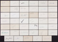 Baseball Collectibles:Others, Baseball Legends Signed Index Cards Lot of 41. ...