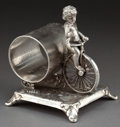 Silver Holloware, American:Napkin Rings, AN ADELPHUS SILVER-PLATED FIGURAL NAPKIN RING . Adelphus SilverPlate Company, New York, New York, circa 1875. Marks:ADEL...
