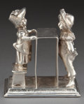 Silver Holloware, American:Napkin Rings, AN AMERICAN SILVER-PLATED FIGURAL NAPKIN RING . Attributed toSimpson, Hall, Miller & Co., Wallingford, Connecticut, circa1...