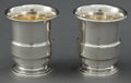 Silver Holloware, American:Cups, A PAIR OF AMERICAN SILVER CUPS . Maker unknown, American, circa1945. Marks: STERLING, C. 2-3/4 x 2-1/2 inches (7.0 x 6....(Total: 2 Items)