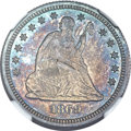 Seated Quarters, 1869 25C MS64 NGC....