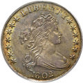Early Dollars, 1802 $1 Narrow Date MS63 PCGS. CAC. B-6, BB-241, R.1....