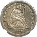 Seated Quarters, 1861-S 25C VF35 NGC....