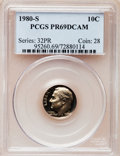 Proof Roosevelt Dimes: , 1980-S 10C PR69 Deep Cameo PCGS. PCGS Population (4893/169). NGCCensus: (408/51). Numismedia Wsl. Price for problem free ...