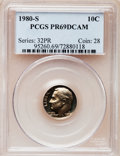Proof Roosevelt Dimes: , 1980-S 10C PR69 Deep Cameo PCGS. PCGS Population (4927/170). NGCCensus: (409/51). Numismedia Wsl. Price for problem free...
