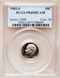 Proof Roosevelt Dimes: , 1982-S 10C PR69 Deep Cameo PCGS. PCGS Population (2587/119). NGCCensus: (406/59). Numismedia Wsl. Price for problem free ...
