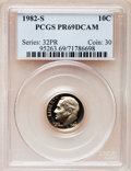 Proof Roosevelt Dimes: , 1982-S 10C PR69 Deep Cameo PCGS. PCGS Population (2634/120). NGCCensus: (406/59). Numismedia Wsl. Price for problem free ...