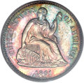 Proof Seated Half Dimes, 1861 H10C PR66 PCGS. CAC....