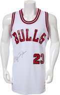 "Basketball Collectibles:Uniforms, 1984-85 Michael Jordan ""Upper Deck Authenticated"" Signed Jersey...."