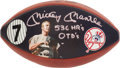 Autographs:Others, Circa 1990 Mickey Mantle Single Signed Football....