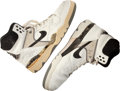 Basketball Collectibles:Others, Circa 1989 David Robinson Game Worn, Signed Shoes - Rookie Era....