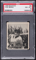 Baseball Cards:Singles (1940-1949), 1948 Bowman Yogi Berra #6 PSA NM-MT 8....