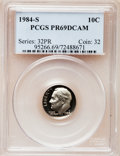 Proof Roosevelt Dimes: , 1984-S 10C PR69 Deep Cameo PCGS. PCGS Population (2494/154). NGCCensus: (381/57). Numismedia Wsl. Price for problem free ...