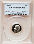 Proof Roosevelt Dimes: , 1984-S 10C PR69 Deep Cameo PCGS. PCGS Population (2498/154). NGCCensus: (396/58). Numismedia Wsl. Price for problem free...