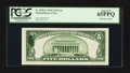 Error Notes:Ink Smears, Fr. 1959-C $5 1934C Federal Reserve Note. PCGS Gem New 65PPQ.. ...