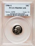 Proof Roosevelt Dimes: , 1986-S 10C PR69 Deep Cameo PCGS. PCGS Population (2764/162). NGCCensus: (265/53). Numismedia Wsl. Price for problem free ...