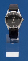 Timepieces:Wristwatch, Omega Screw Back Steel Automatic Seamaster. ...