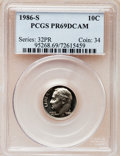 Proof Roosevelt Dimes: , 1986-S 10C PR69 Deep Cameo PCGS. PCGS Population (2748/161). NGCCensus: (265/53). Numismedia Wsl. Price for problem free ...
