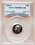 Proof Roosevelt Dimes: , 1986-S 10C PR69 Deep Cameo PCGS. PCGS Population (2716/155). NGCCensus: (261/53). Numismedia Wsl. Price for problem free ...