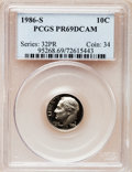 Proof Roosevelt Dimes: , 1986-S 10C PR69 Deep Cameo PCGS. PCGS Population (2719/155). NGCCensus: (261/53). Numismedia Wsl. Price for problem free ...