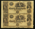 Obsoletes By State:Louisiana, New Orleans, LA- New Orleans Canal & Banking Co. $20-$20 Uncut Pair. ...