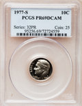 Proof Roosevelt Dimes: , 1977-S 10C PR69 Deep Cameo PCGS. PCGS Population (3966/197). NGCCensus: (234/20). Numismedia Wsl. Price for problem free ...