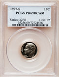 Proof Roosevelt Dimes: , 1977-S 10C PR69 Deep Cameo PCGS. PCGS Population (3921/188). NGCCensus: (231/20). Numismedia Wsl. Price for problem free ...