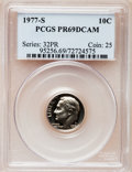 Proof Roosevelt Dimes: , 1977-S 10C PR69 Deep Cameo PCGS. PCGS Population (3965/196). NGCCensus: (231/20). Numismedia Wsl. Price for problem free...