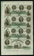 Obsoletes By State:Rhode Island, Providence, RI- Bank of America $5-$5-$5-$10 Uncut Sheet. ...