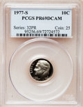 Proof Roosevelt Dimes: , 1977-S 10C PR69 Deep Cameo PCGS. PCGS Population (3922/188). NGCCensus: (231/20). Numismedia Wsl. Price for problem free ...
