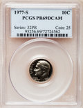 Proof Roosevelt Dimes: , 1977-S 10C PR69 Deep Cameo PCGS. PCGS Population (3940/191). NGCCensus: (231/20). Numismedia Wsl. Price for problem free ...