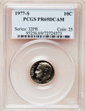 Proof Roosevelt Dimes: , 1977-S 10C PR69 Deep Cameo PCGS. PCGS Population (3965/196). NGCCensus: (231/20). Numismedia Wsl. Price for problem free ...