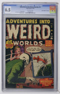 "Golden Age (1938-1955):Horror, Adventures Into Weird Worlds #11 Davis Crippen (""D"" Copy) pedigree(Atlas, 1952) CGC FN+ 6.5 Off-white pages...."
