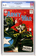 Silver Age (1956-1969):War, Our Army at War #64 (DC, 1957) CGC FN+ 6.5 Off-white to white pages....