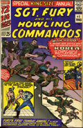 Silver Age (1956-1969):War, Sgt. Fury and His Howling Commandos Annual #1-4, 7 Bound Volume (Marvel, 1965-71)....