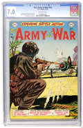 Golden Age (1938-1955):War, Our Army at War #16 (DC, 1953) CGC FN/VF 7.0 Off-white pages....