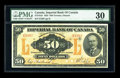 Canadian Currency: , Toronto, ONT- Imperial Bank of Canada $50 Nov. 1, 1923 Ch. # 375-18-14. ...