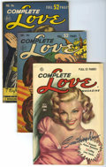 "Golden Age (1938-1955):Romance, Complete Love Magazine Davis Crippen (""D"" Copy) pedigree Group (Ace, 1951-53).... (Total: 9)"