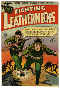 "Fighting Leathernecks #2 Davis Crippen (""D"" Copy) pedigree (Toby Publishing, 1952) Condition: VF+"