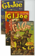 "Golden Age (1938-1955):War, G. I. Joe #10, 11, and 12 Group - Davis Crippen (""D"" Copy) pedigree(Ziff-Davis, 1950-51).... (Total: 3)"