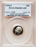 Proof Roosevelt Dimes: , 1978-S 10C PR69 Deep Cameo PCGS. PCGS Population (4767/277). NGCCensus: (318/41). Numismedia Wsl. Price for problem free...