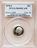 Proof Roosevelt Dimes: , 1978-S 10C PR69 Deep Cameo PCGS. PCGS Population (4749/271). NGCCensus: (317/41). Numismedia Wsl. Price for problem free ...