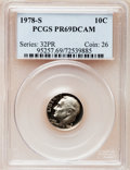 Proof Roosevelt Dimes: , 1978-S 10C PR69 Deep Cameo PCGS. PCGS Population (4678/266). NGCCensus: (317/41). Numismedia Wsl. Price for problem free ...